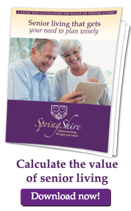 Calculate the value of senior living