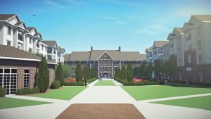 Apartments Courtyard at SpringShire